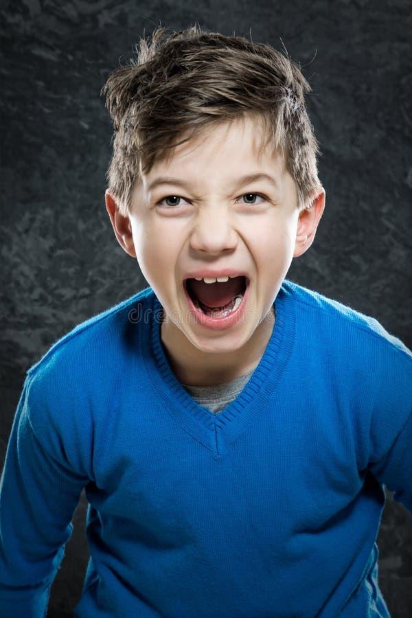 Сердитый ребенок стоковые фотографии rf