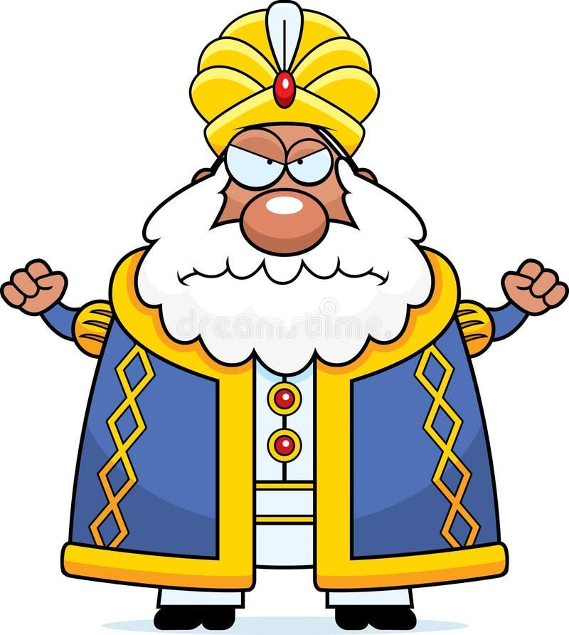 Сердитый султан шаржа иллюстрация вектора