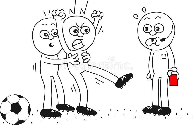 Сердитый футболист бесплатная иллюстрация