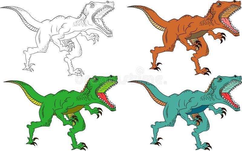 Сердитый хищник динозавра иллюстрация вектора