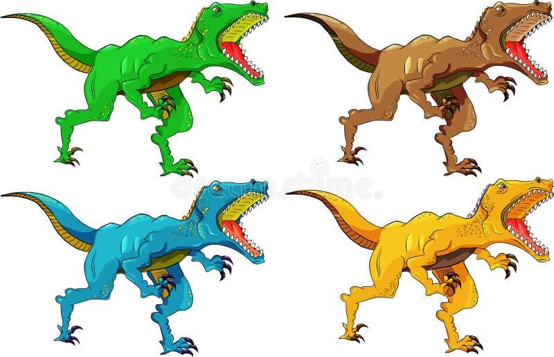 Сердитый хищник динозавра иллюстрация штока