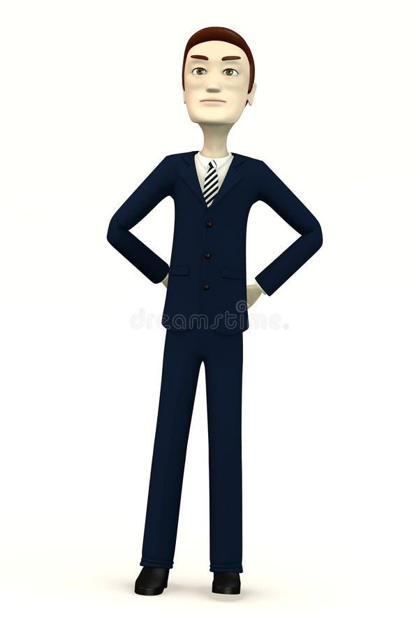 Сердитый человек в костюме иллюстрация штока