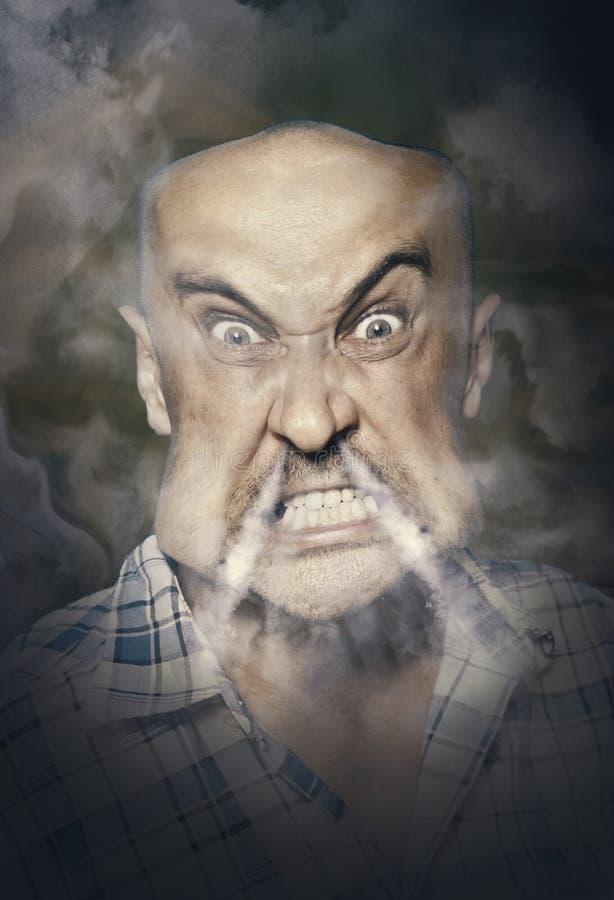 сердитый человек очень стоковые фотографии rf