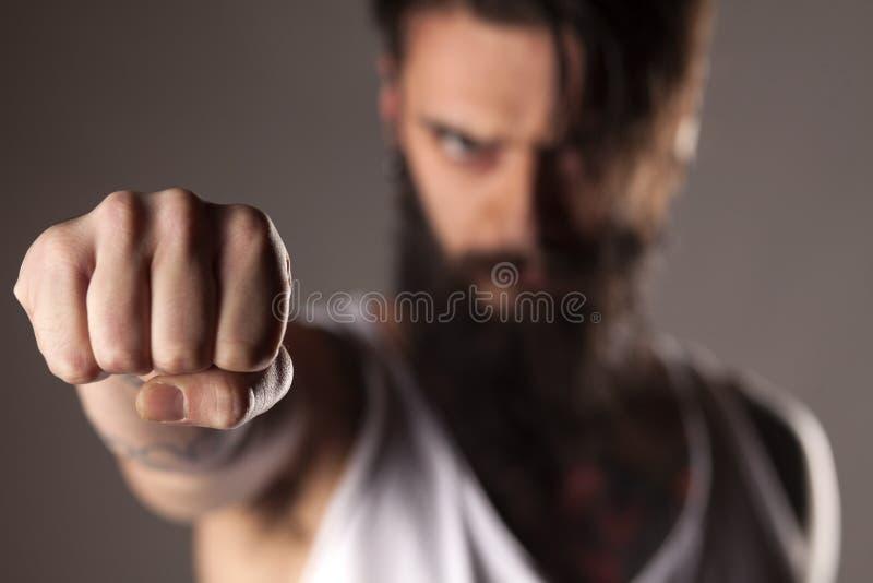 сердитый человек стоковое изображение