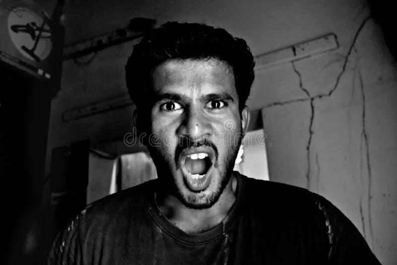 сердитый человек стоковая фотография rf