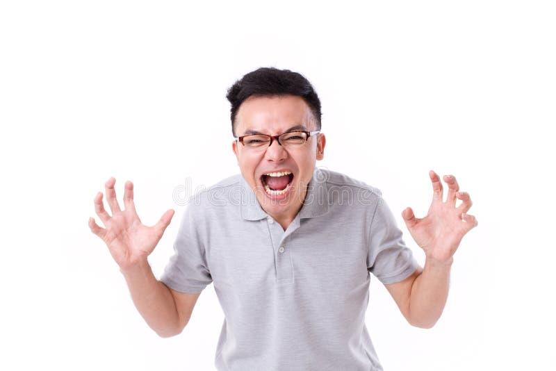 сердитый человек screaming стоковое изображение