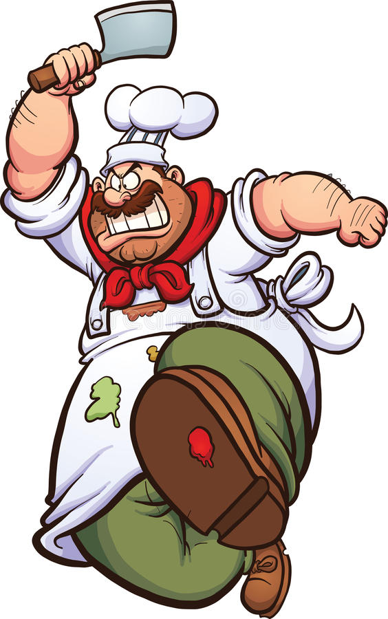 сердитый шеф-повар бесплатная иллюстрация