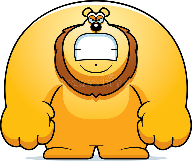 сердитый львев шаржа иллюстрация штока