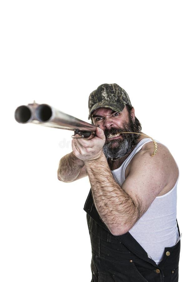 Сердитый Hillbilly стоковое фото rf