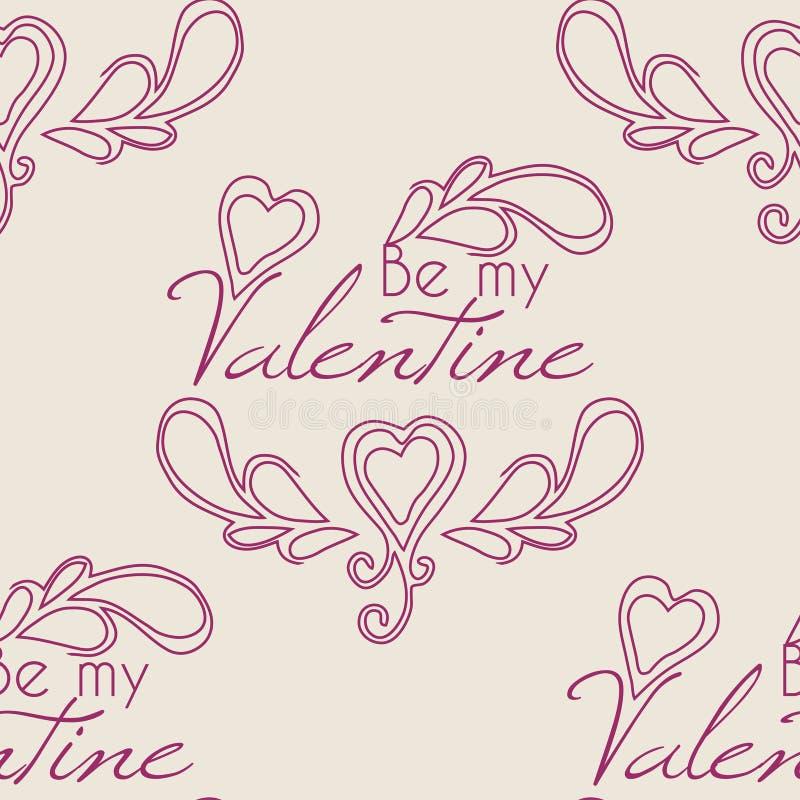 Сердца валентинки безшовные и любят вас картина бесплатная иллюстрация