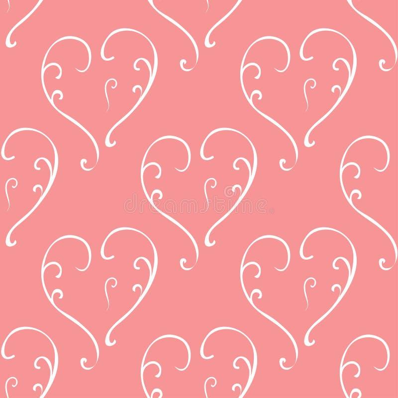 Сердца валентинки безшовные и любят вас картина иллюстрация штока