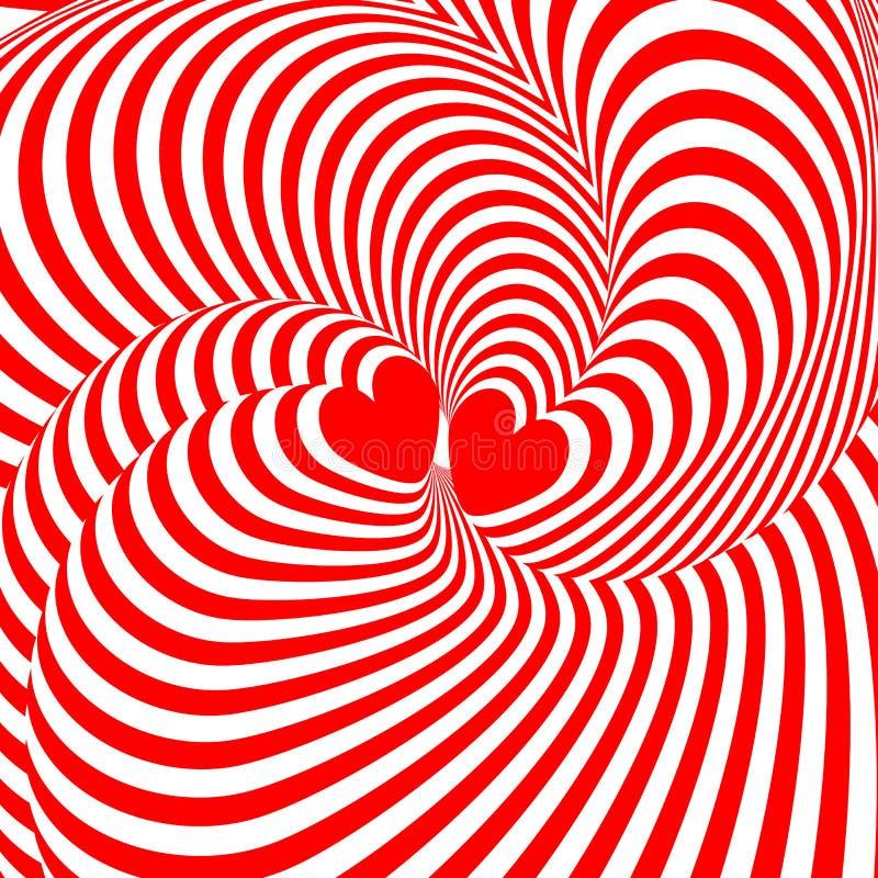 Сердца дизайна переплетая backgroun иллюзии движения бесплатная иллюстрация
