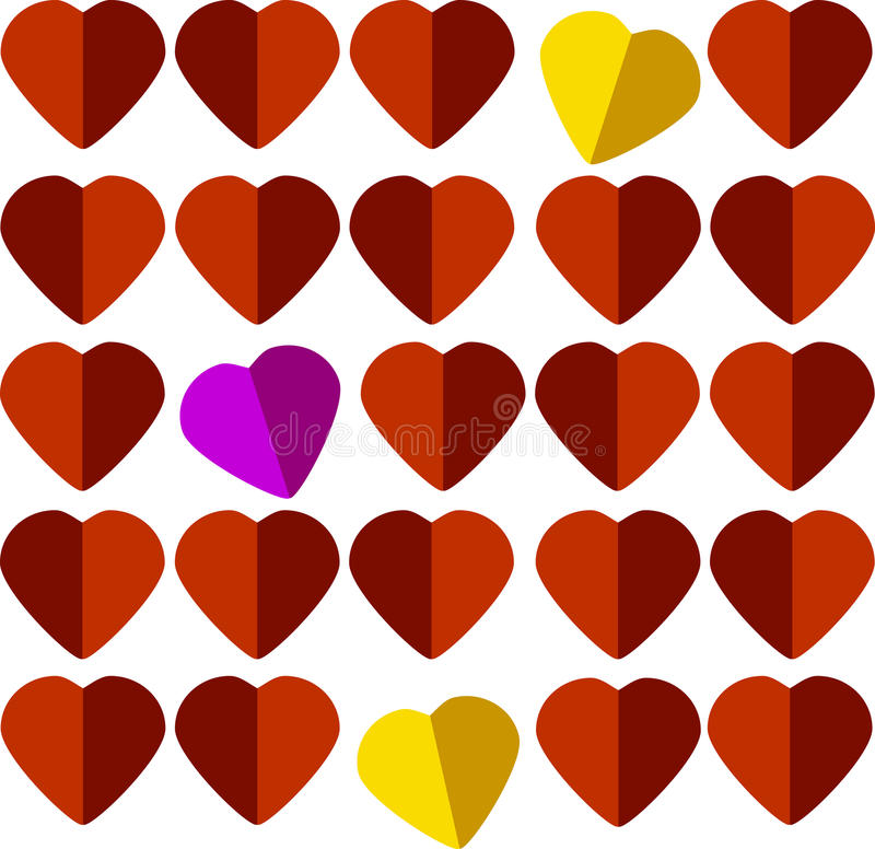 Сердца карточки стоковое изображение