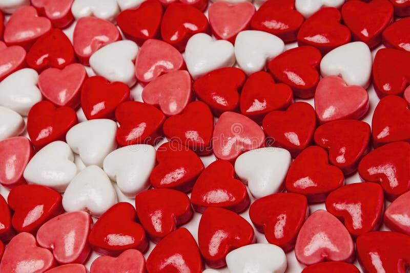 Сердца конфеты, валентинки, день стоковые изображения rf