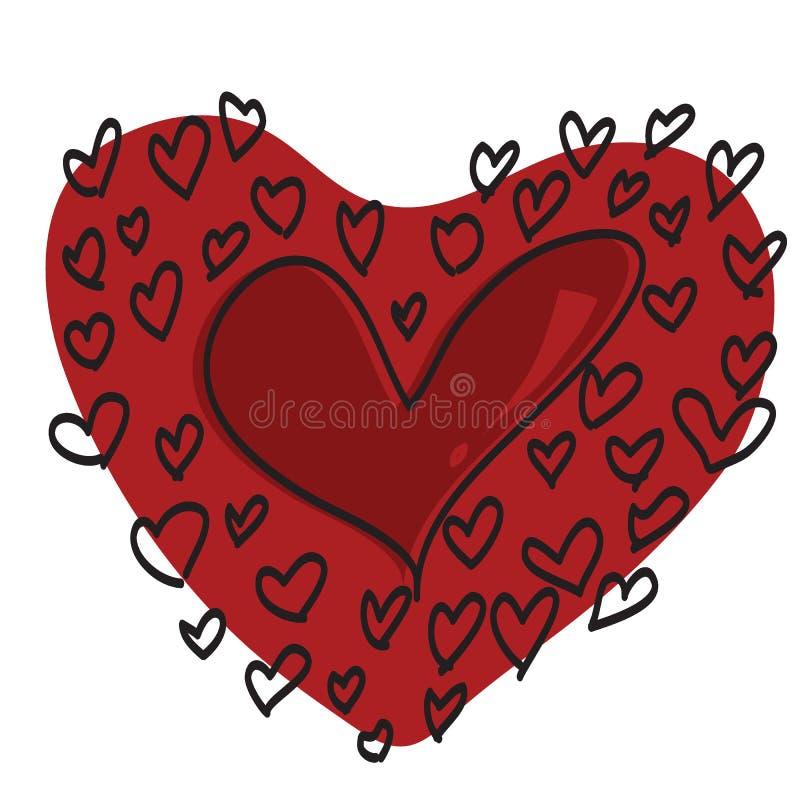 сердца красные стоковые фотографии rf
