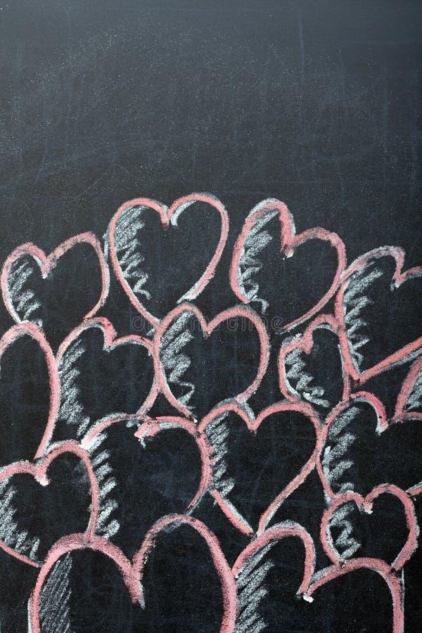 Сердца на классн классном стоковые изображения rf
