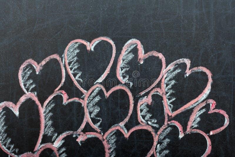Сердца на классн классном стоковое изображение rf