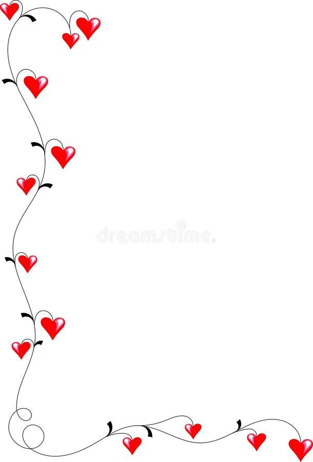 Сердца на лозе стоковые фотографии rf