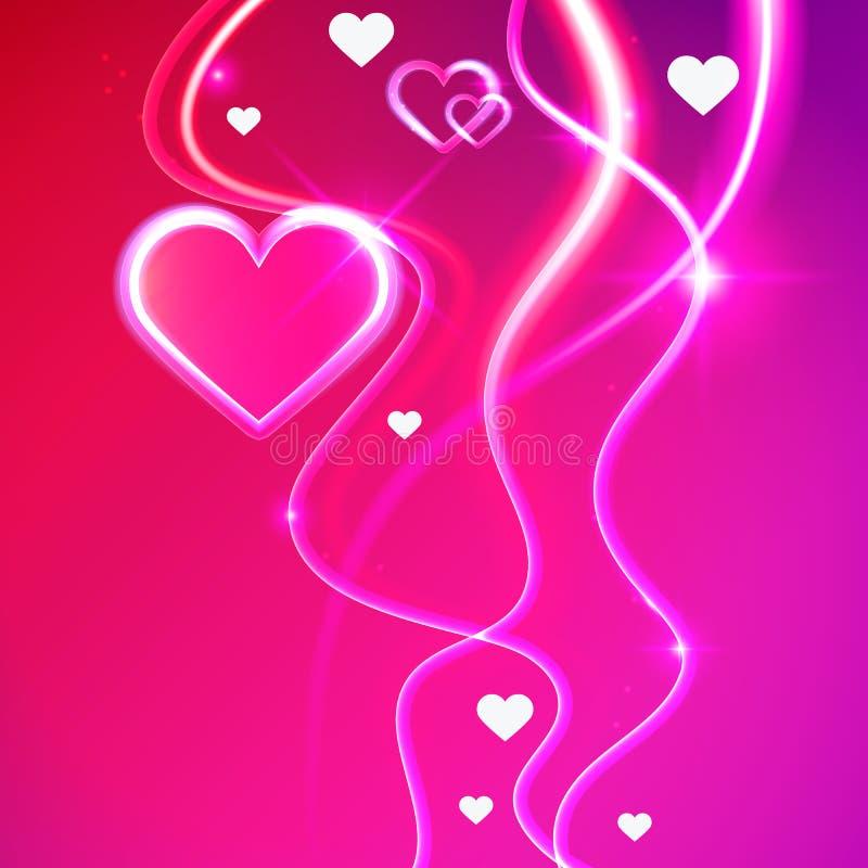 Сердца предпосылки вектора влюбленности накаляя розовые бесплатная иллюстрация