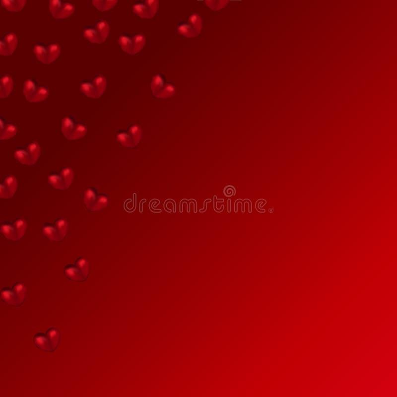 сердца предпосылки красные бесплатная иллюстрация