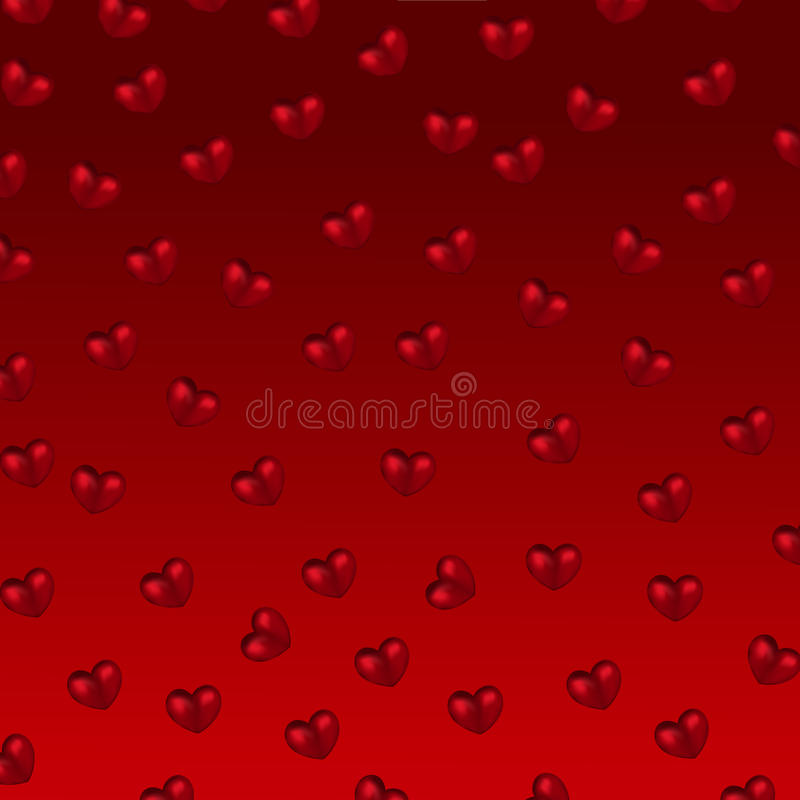 сердца предпосылки красные иллюстрация штока