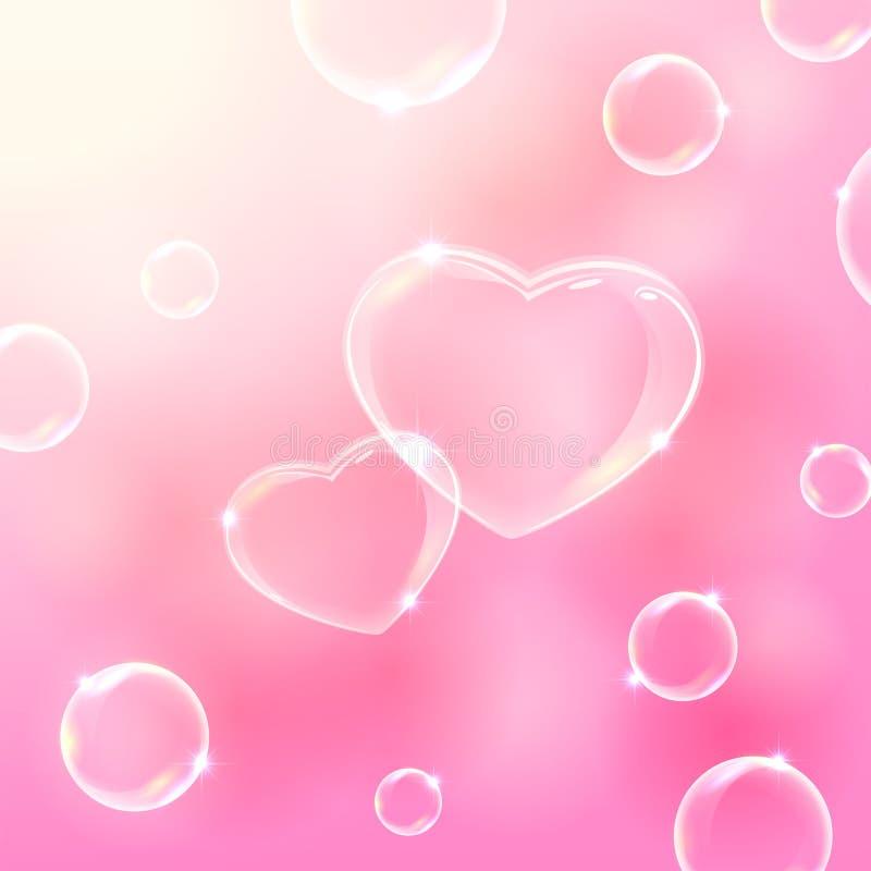 2 сердца пузыря иллюстрация штока