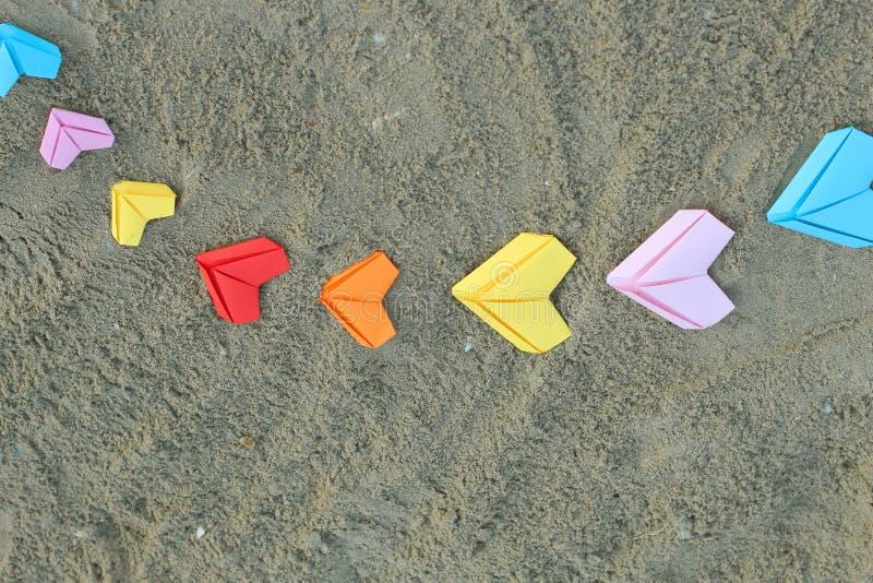 Сердца разнообразия бумажные стоковые изображения