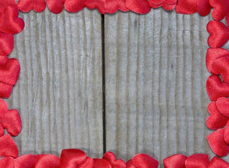 сердца рамки красные стоковое изображение rf