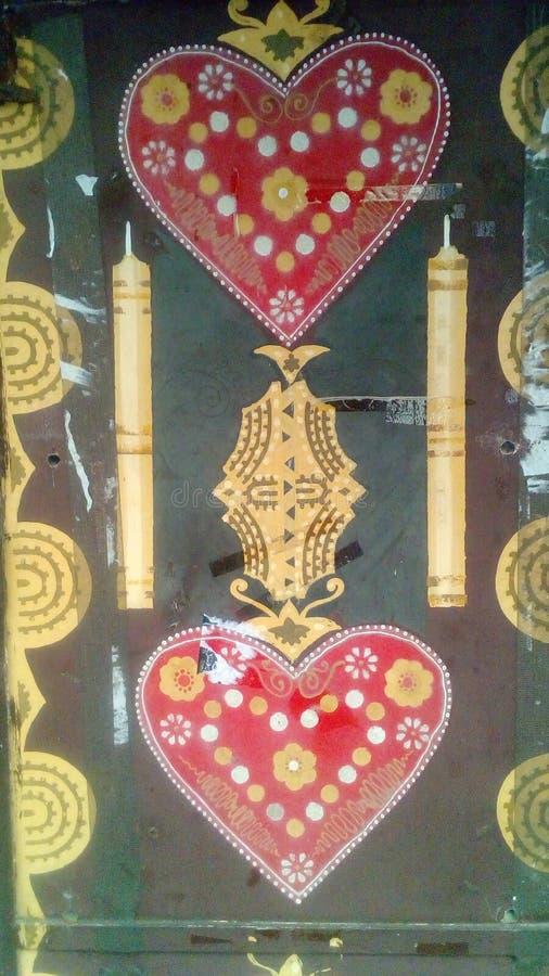 Сердца Licitar с свечами стоковая фотография rf