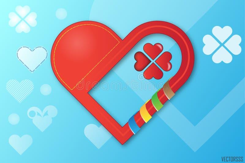 Сердце вектора. стоковое изображение