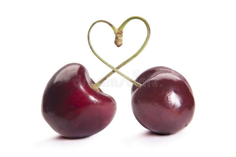 Сердце вишен стоковая фотография rf