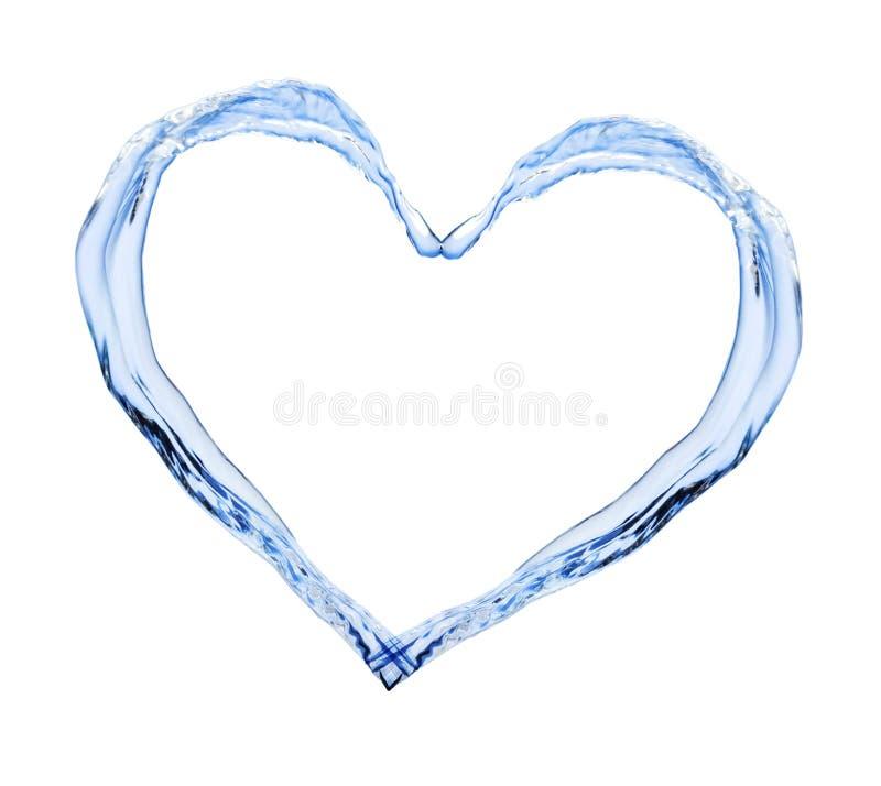 Сердце воды стоковые фотографии rf