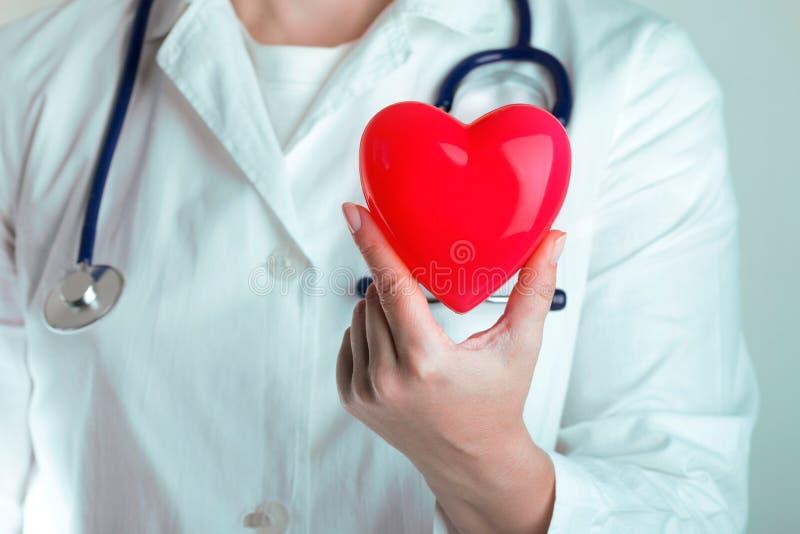 Сердце владением доктора стоковое изображение
