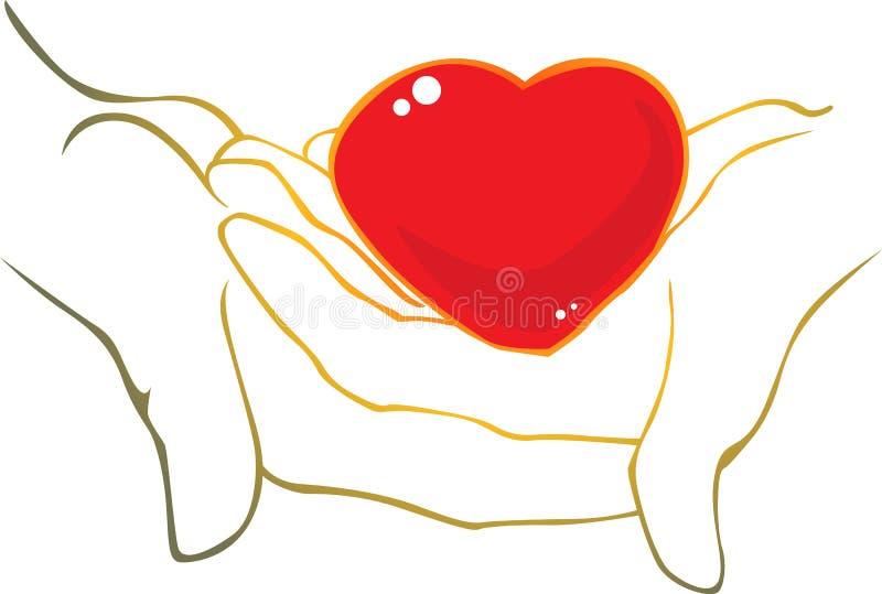 Сердце в руках бесплатная иллюстрация