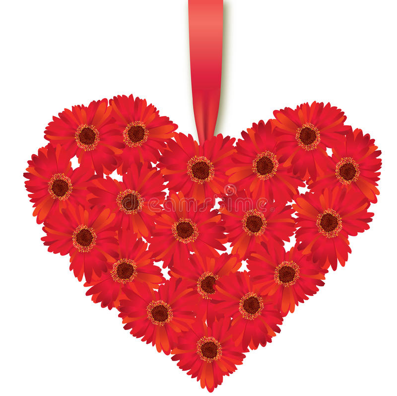 Сердце влюбленности. Букет цветка. иллюстрация вектора