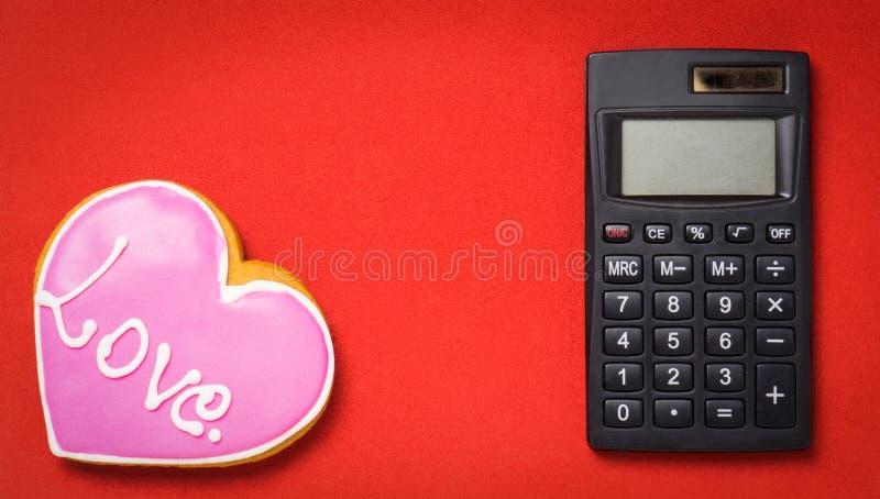 Сердце влюбленности вычисления математики стоковая фотография rf