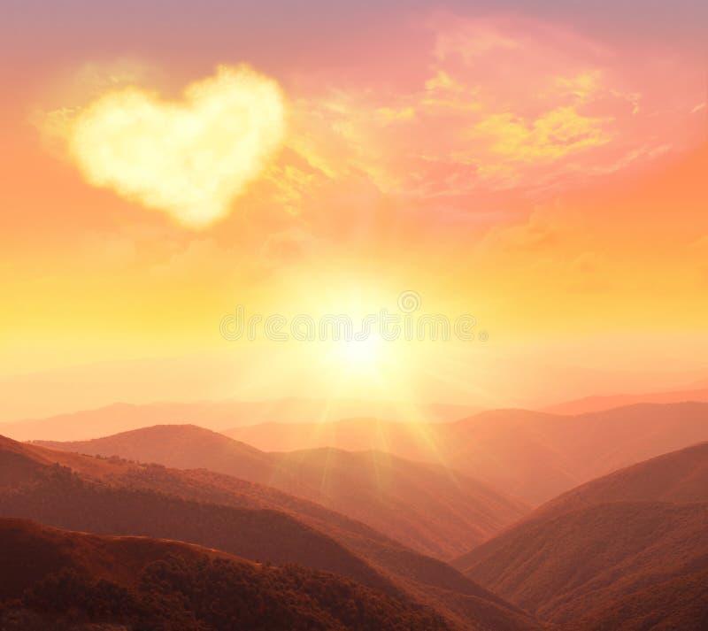 Сердце, влюбленность и день валентинок стоковая фотография rf