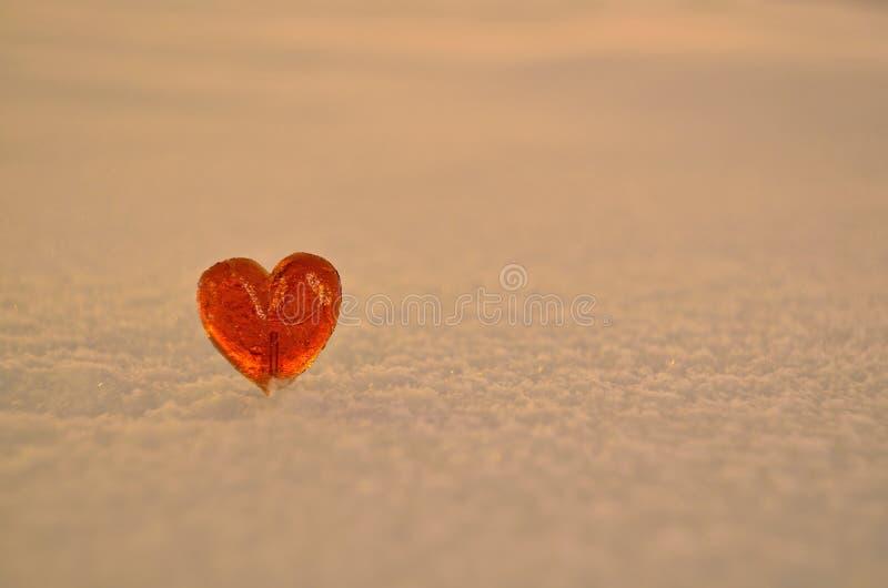 Сердце леденца на палочке стоковые фотографии rf