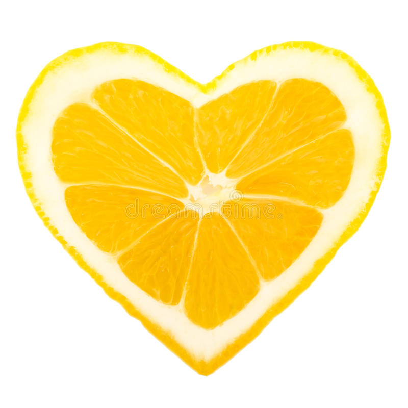 Сердце лимона стоковое фото rf