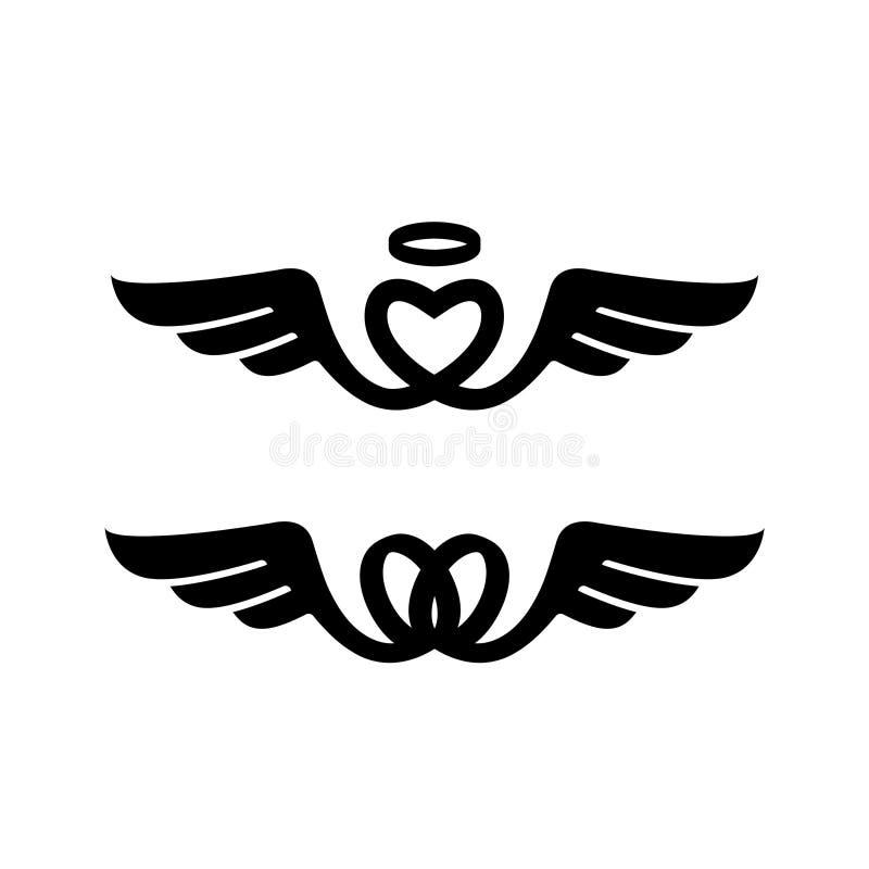 Сердце и крыла стоковые изображения rf