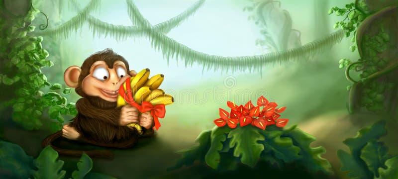 Сердце и цветок иллюстрация вектора