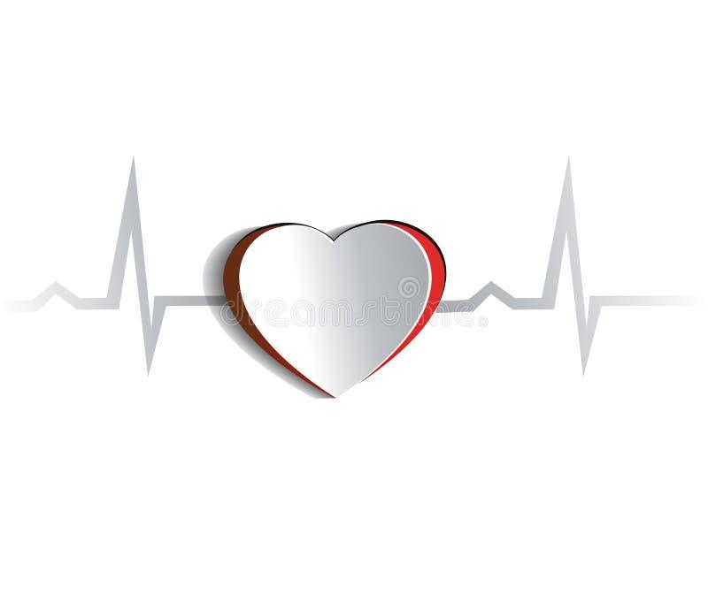 Сердце и cardiogram иллюстрация штока