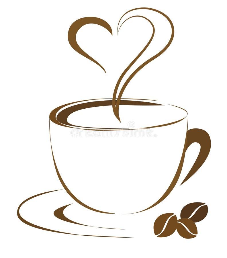 Сердце кофе бесплатная иллюстрация