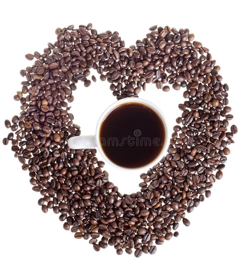 Download Сердце кофе стоковое изображение. изображение насчитывающей backhoe - 41661861
