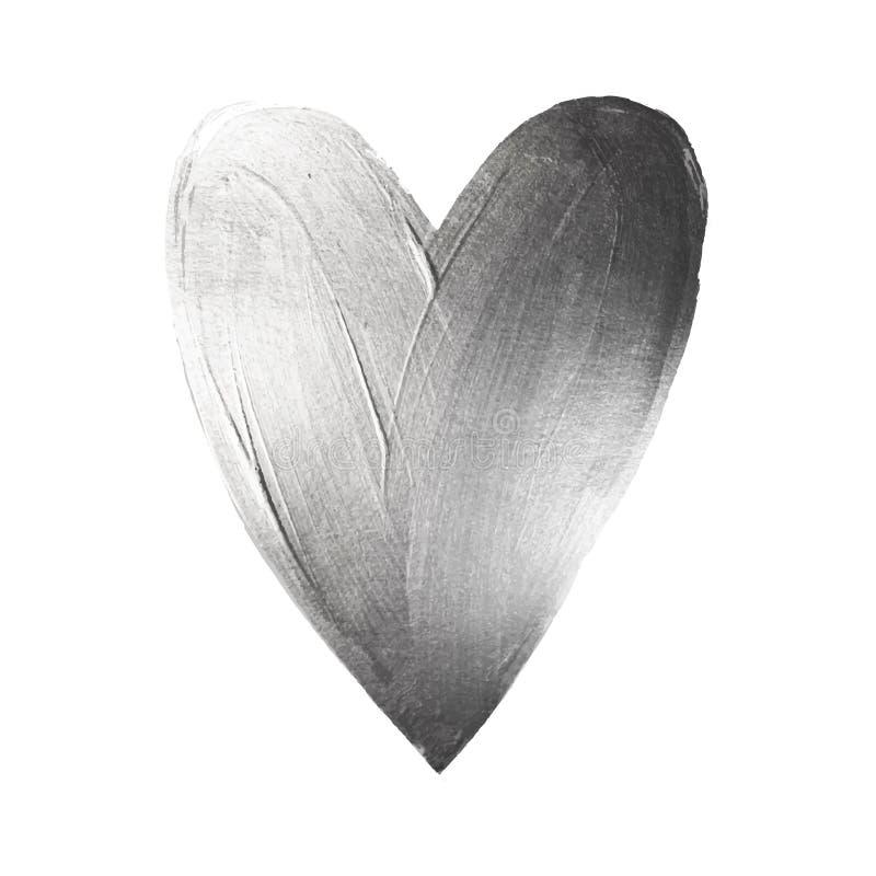 Сердце краски фольги вектора на белой предпосылке День Valintinas дизайна концепции влюбленности счастливый Легко для использован иллюстрация вектора
