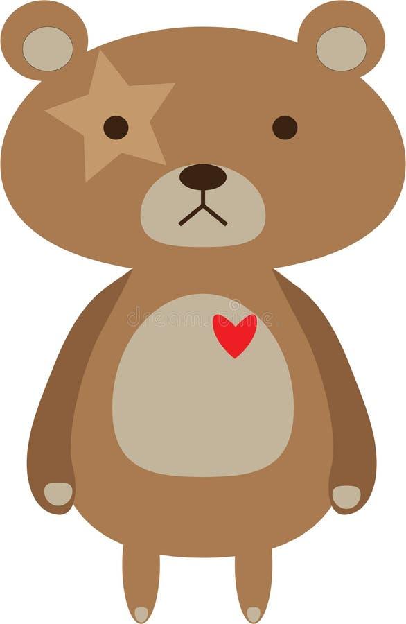 Сердце красного цвета медведя стоковое фото