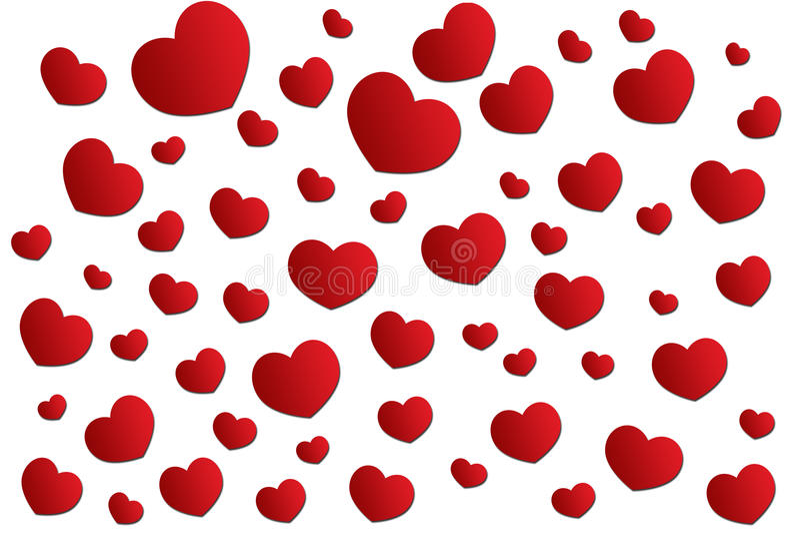Сердце красного цвета предпосылки стоковое фото