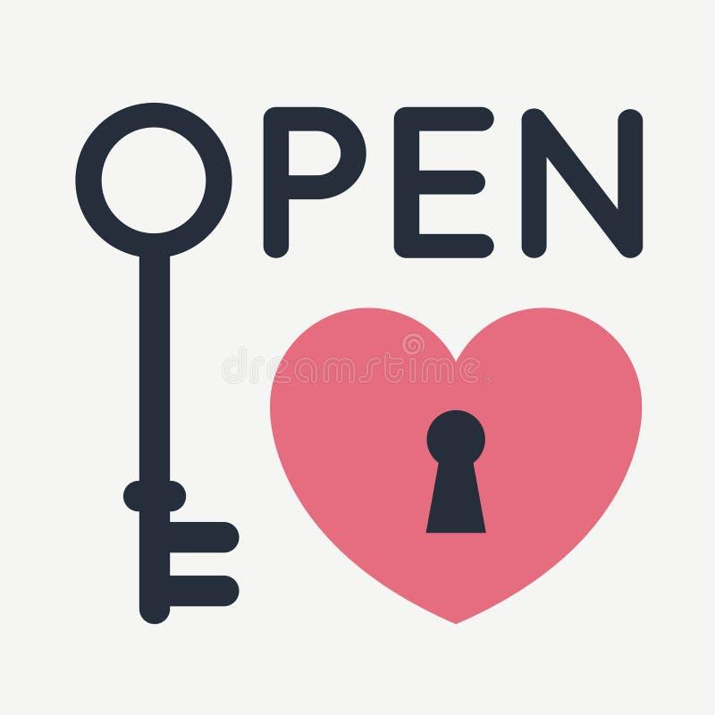 сердце открытое иллюстрация штока