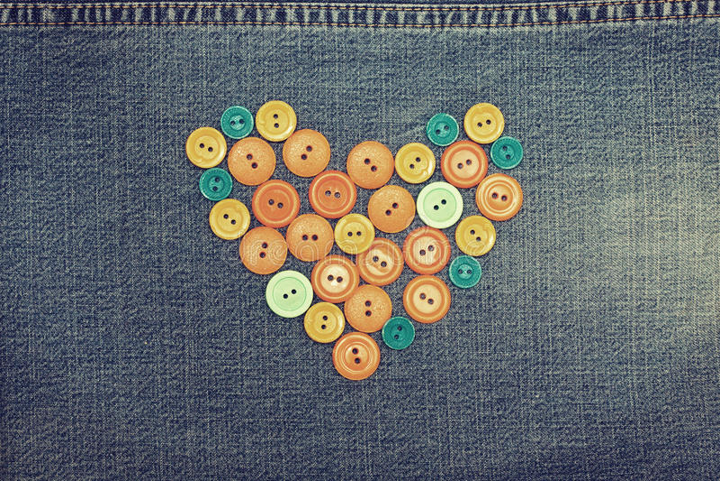Сердце от кнопок стоковое изображение rf