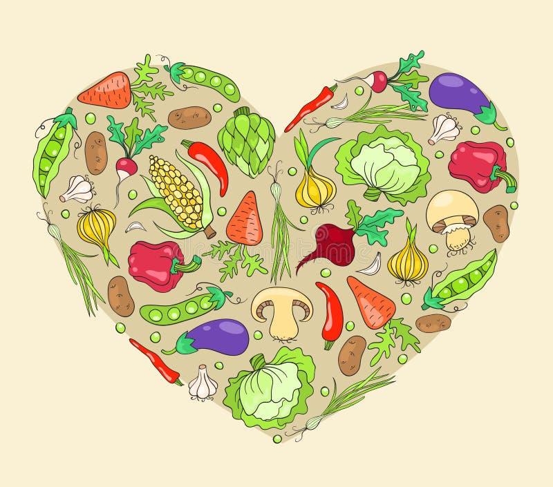 Сердце от овощей бесплатная иллюстрация